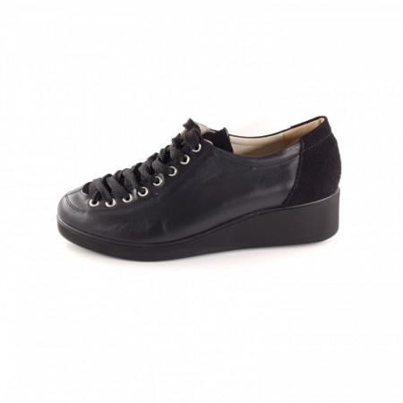 Pantofi dama, SandAli, piele naturala, combinate, negru