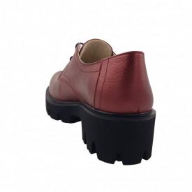 Pantofi oxford dama, SandAli, piele naturala bizon, talpa usoara, crampoane mari, grena