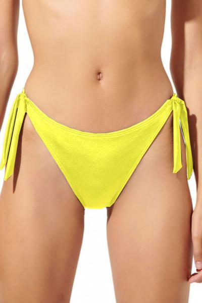 Slip Brazilian baie, reglabil, galben neon
