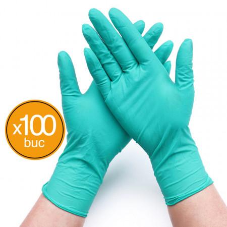 Manusi de unica folosinta, Dr.Mayer, Nitril, Verde, Marimea S, 100 bucati