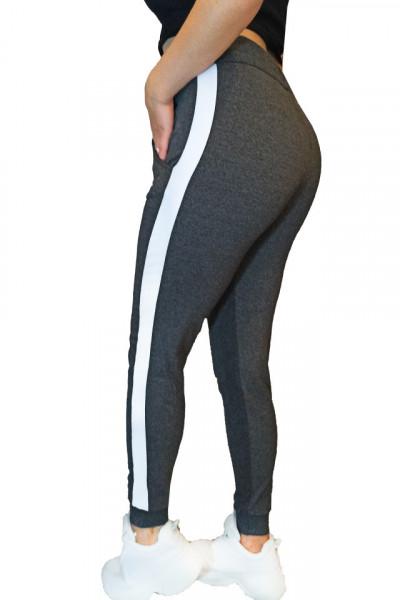 Pantaloni trening dama, Gri inchis