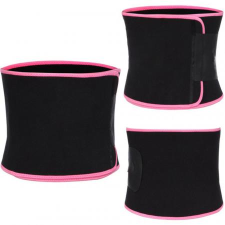 Centura abdominala pentru modelarea taliei, din neopren Black and Pink
