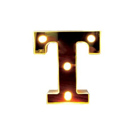 Litera volumetrica luminoasa, LED, din plastic, cu baterii, T