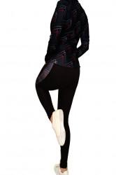 Trening dama Fitness, Performance, Black, imprimeu Pink