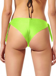 Slip Brazilian baie, reglabil, verde neon