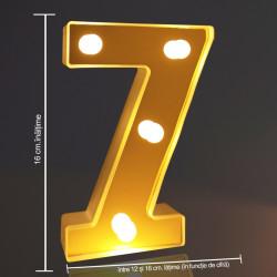 Cifra volumetrica luminoasa, LED, din plastic, cu baterii, 7