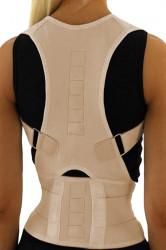 Corector postura pentru indreptare coloana, spate si umeri, Bej, Unisex, Marime XL