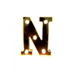 Litera volumetrica luminoasa, LED, din plastic, cu baterii, N