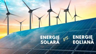 Energie solară vs. Energie eoliană