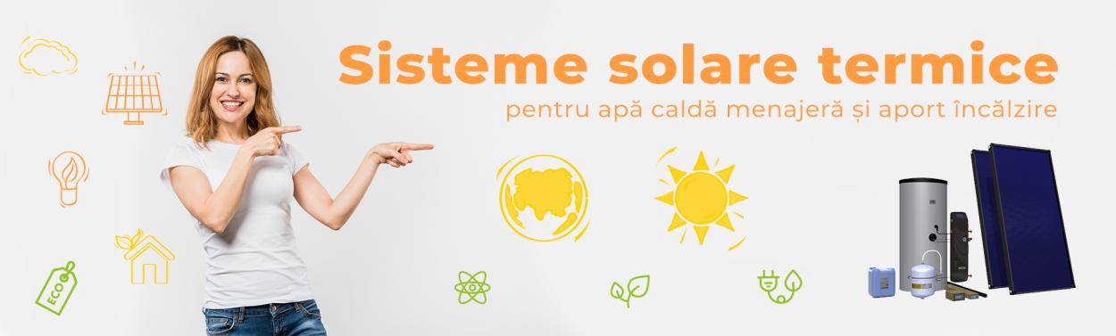 Sisteme solare termice, panouri solare, colectoare solare