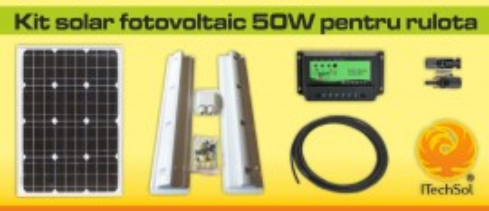 Kit solar fotovoltaic 50W pentru rulota
