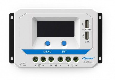 Controler solar PWM, seria ViewStar AU, 12-24V automat 10A, 20A sau 30A