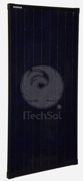 Panou solar fotovoltaic monocristalin 100W   12V design negru complet