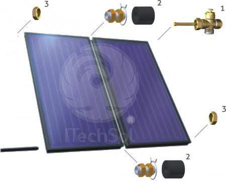 ZPKS 3 set de conectare pentru 3 colectoare (panouri) solare plane