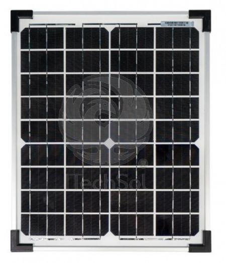 Panou solar fotovoltaic monocristalin 20W pentru alimentare iluminat, gard electric, etc.
