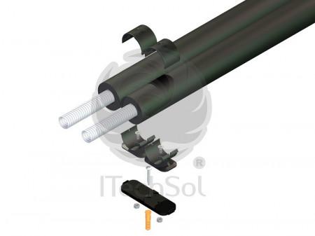 Set colier pentru prinderea ţevilor flexibile din inox de la DN 15 la DN 20 (10 bucăţi)