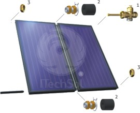 ZPKS 2 set de conectare pentru 2 colectoare (panouri) solare plane