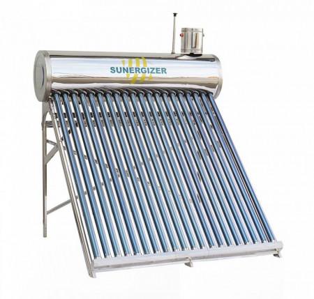 Kit solar nepresurizat compact | boiler inox 150 litri | 15 tuburi vidate | Vas alimentare