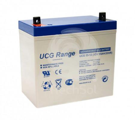 Baterie (acumulator) GEL Ultracell UCG55-12, 55Ah, 12V, deep cycle