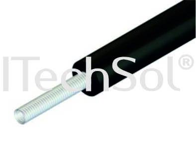 Teava flexibila din otel inoxidabil DN20 cu izolatie Armaflex HT de 13 mm, cu protectie UV