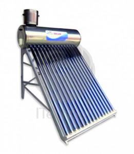 Kit solar nepresurizat compact, cu boiler inox 100 litri si 10 tuburi vidate