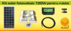 Kit solar fotovoltaic 130W pentru rulota