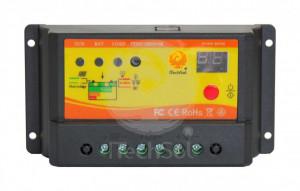Controller solar de incarcare PWM de 10A, 12/24V,  cu functie crepusculara si temporizator pentru iluminat nocturn