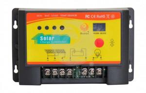 Controller solar de incarcare PWM de 20A, 12/24V, cu functie crepusculara si temporizator pentru iluminat nocturn