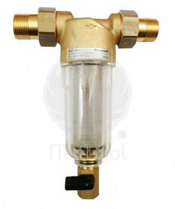 """Filtru de apa cu curatare Honeywell, cu pahar transparent, olandezi si grad de filtrare 100 µ, 3/4"""""""