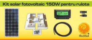 Kit solar fotovoltaic 150W pentru rulota