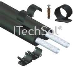 Teava flexibila din otel inoxidabil DN16 cu izolatie HTS/13 mm, cu protectie mecanica si UV