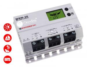 CONTROLLER SOLAR profesional MPPT WRM20 100V, 20A, 12/24V/LI-ION