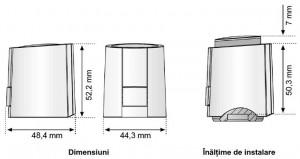 Dimensiuni Actuator termoelectric
