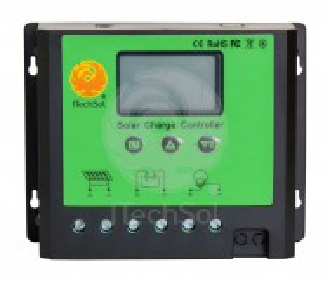 Controller solar de incarcare PWM cu ecran LCD, 40A, 12/24V, cu functie crepusculara si temporizator pentru iluminat nocturn