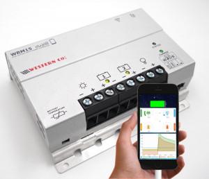 CONTROLLER SOLAR profesional MPPT WRM15 100V, 15Ah, 12/24V Li-Ion (DUAL BAT.)