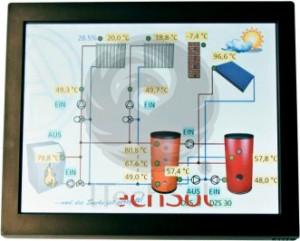 TA CAN Touch monitor pentru controller solar termic (automatizare, regulator) UVR1611