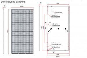 Dimensiunile panoului