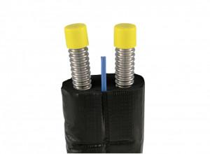 Țeavă flexibilă din oțel inoxidabil DN16 cu izolație și cu protectie UV