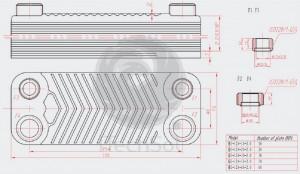 Schimbător de căldură cu plăci - 66KW
