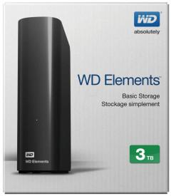 """HDD extern WD, 3TB, Elements, 3.5"""", USB3.0, negru"""