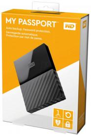 """HDD extern WD, 1TB, My Passport, 2,5"""" USB 3.0, negru,"""