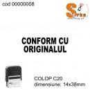 Stampila CONFORM CU ORIGINALUL COLOP C20