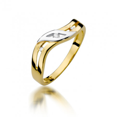Inel Aur 14k cu Diamant 0.02 ct