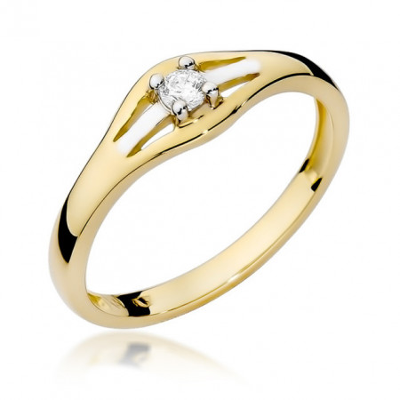 Inel Aur 14K cu Diamant 0.10 ct