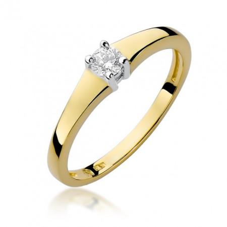 Inel Aur 14K cu Diamant 0.15 ct