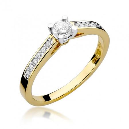 Inel Aur 14k cu Diamant 0,36 ct
