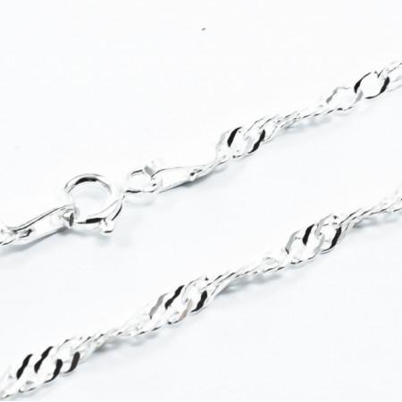 Lant Argint 925 Singapore, 45cm lungime