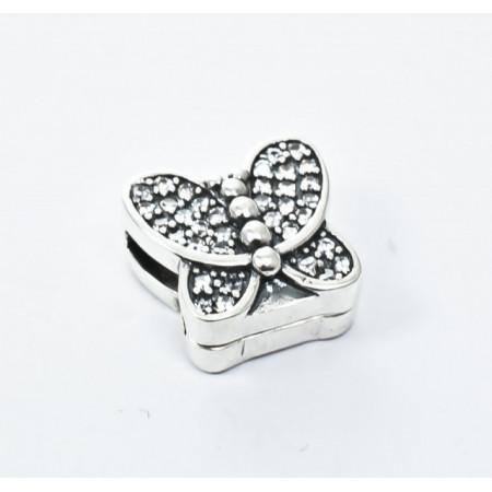 Talisman Argint 925 rodiat Butterfly si zirconiu- Simulated Diamond