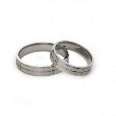 Verighete din Argint 925 rodiat. Cod: AF0599