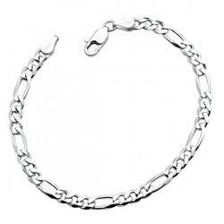 Bratara Figaro Argint 925, rodiat, lungime 21 cm